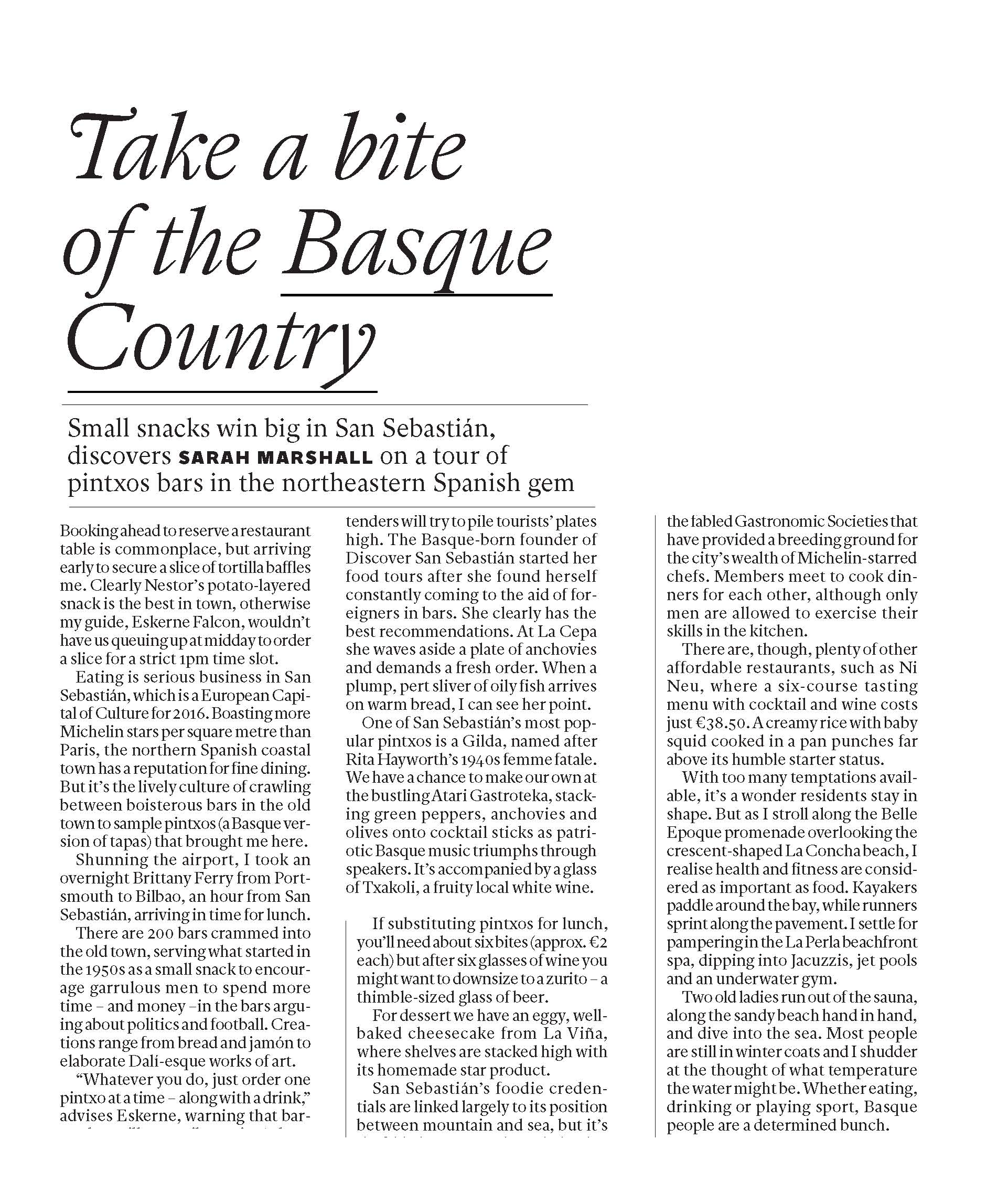 take a bite of the basque country Page 1
